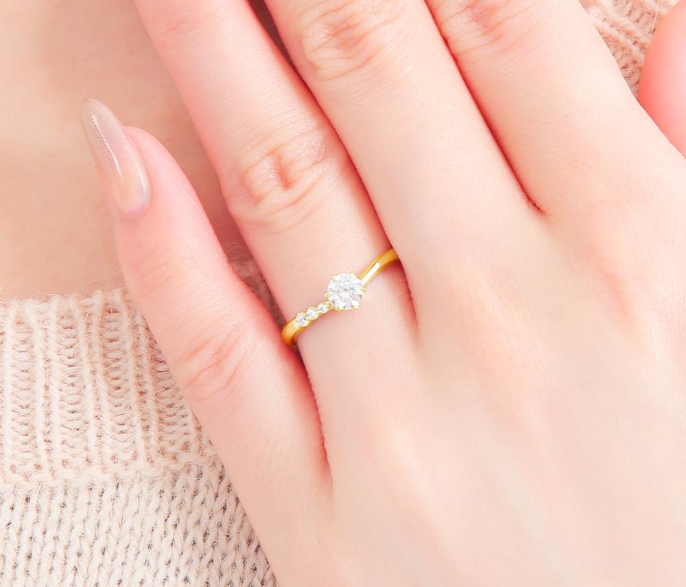 結婚指輪 婚約指輪 仙台 イエローゴールド