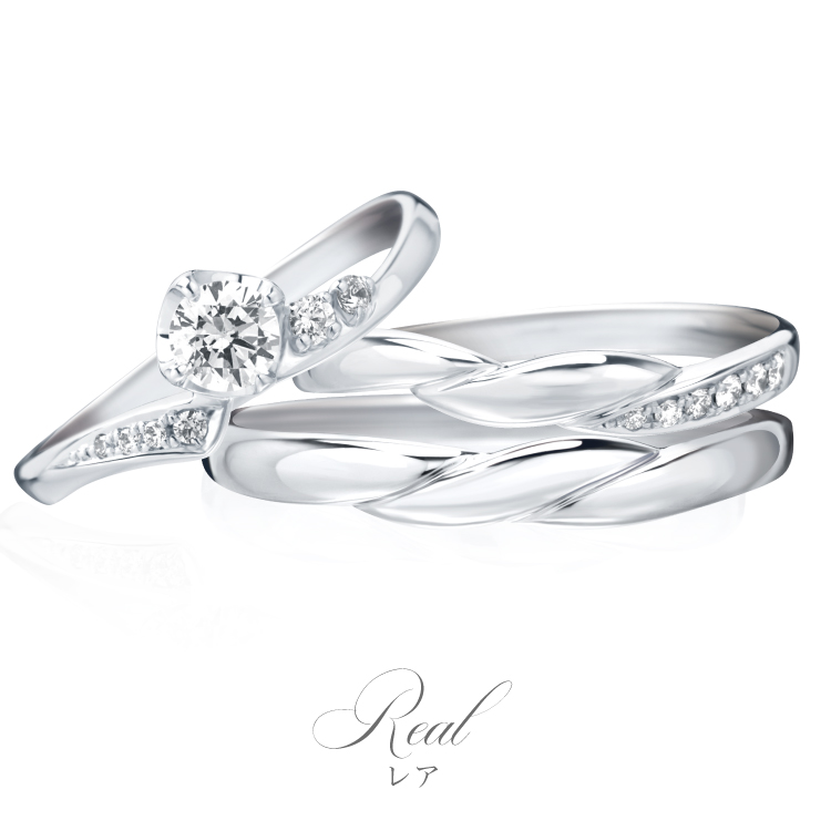 結婚指輪、婚約指輪のセットリング